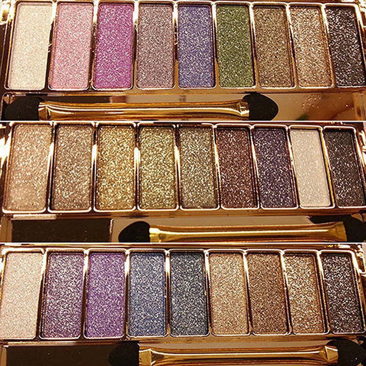 EVERICH Women 9 Colors Waterproof Make UP Glitter