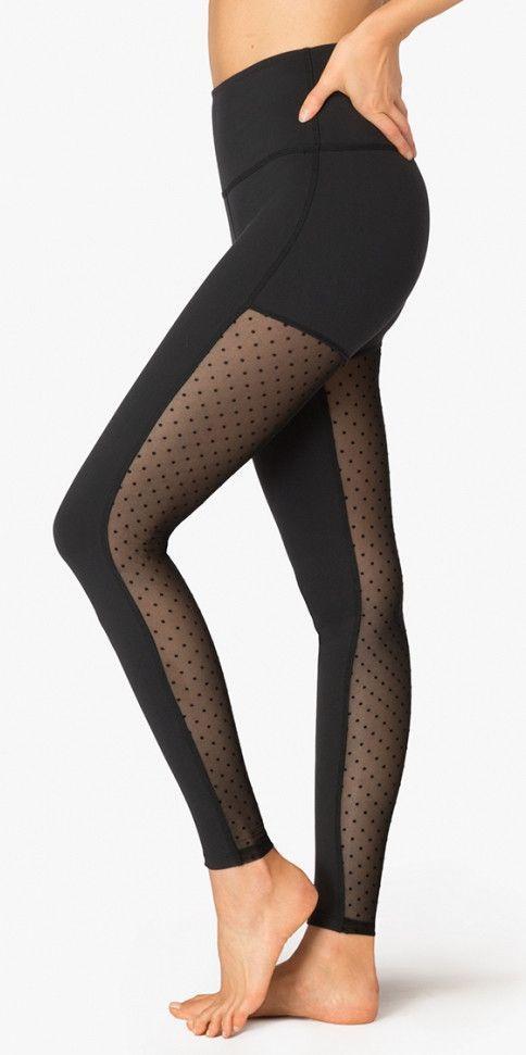 f8f5ac51098bb Beyond Yoga Polka Dot Mesh Back High Waist Legging | Products