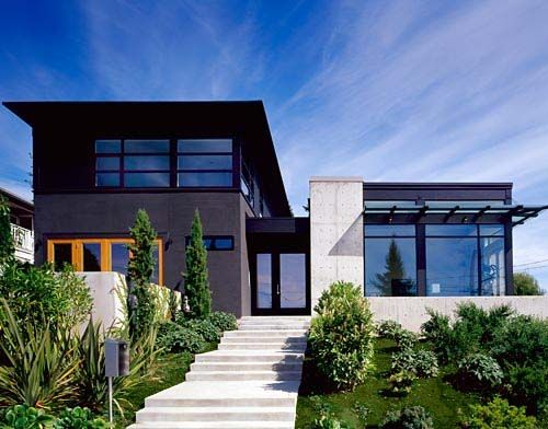 die besten 25 hausfassaden ideen auf pinterest moderne hausfassaden haus exterieur design. Black Bedroom Furniture Sets. Home Design Ideas