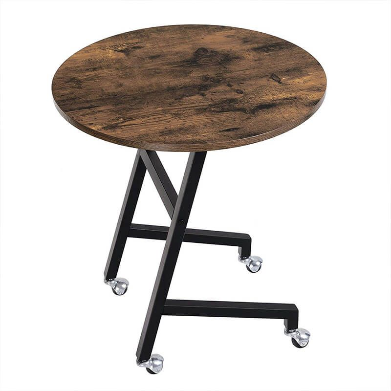 Small Rolling Side Table On Wheels For