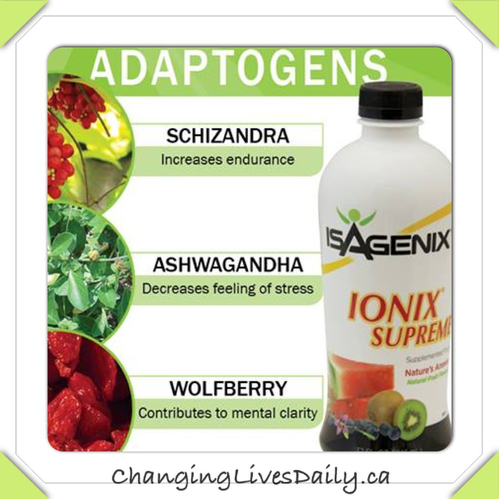Ionix Supreme Isagenix, Adaptogens, Nutritional cleansing