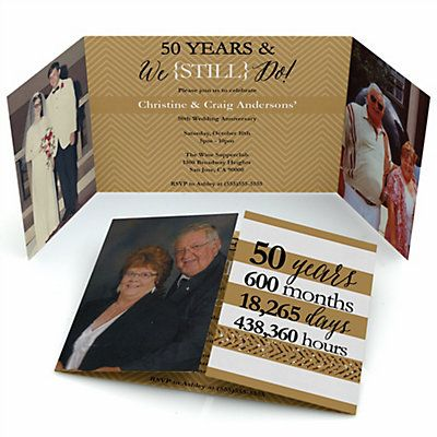We still do 50th wedding anniversary personalized wedding we still do 50th wedding anniversary personalized wedding anniversary photo invitations bigdotofhappiness stopboris Images