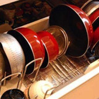 キッチン下の鍋収納 100均グッズ 引き出し収納テクまとめ