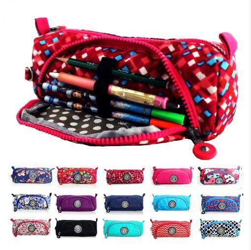 케이스 kiple + 키 체인 연필 케이스 지갑 핑크 메이크업 동전 파우치 아이 홀더 파우치 지갑 볼사의 feminina 골목 Estojo 가방 걸쇠