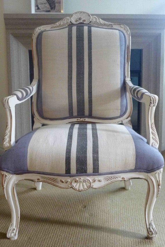 Idea For My Rescued Armchair Using Stripe French Style Strip