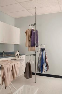 Corner Valet Space Saving Storage System Use Anywhere In The Home Laundry Room Garage Closet Entrance Cold Ro Corner Rack Garment Racks Clothing Rack