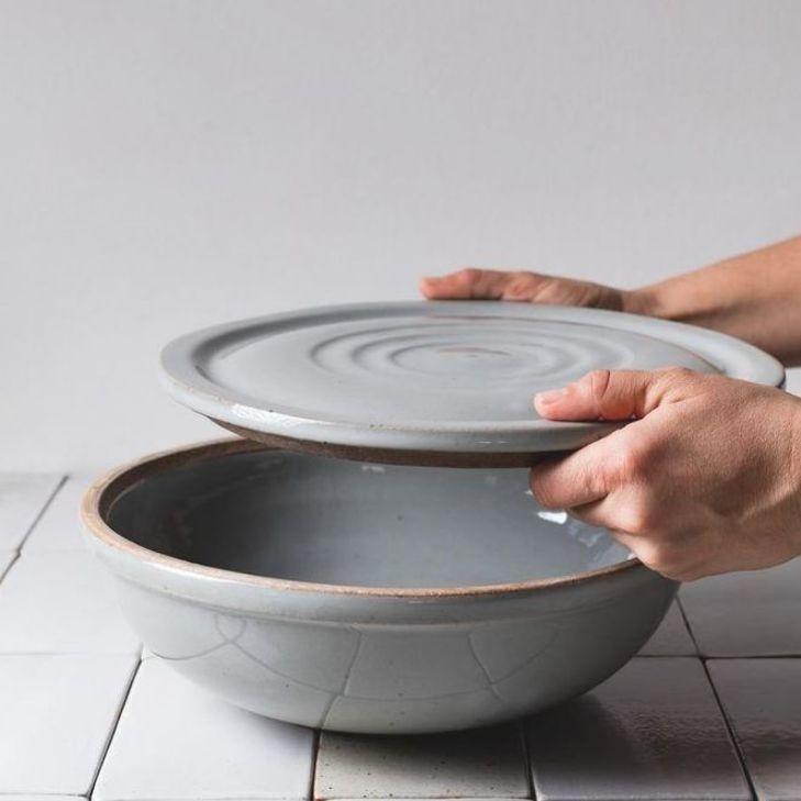 Large Covered Bowl  pottery design #handmadepottery #ceramics #ceramicart