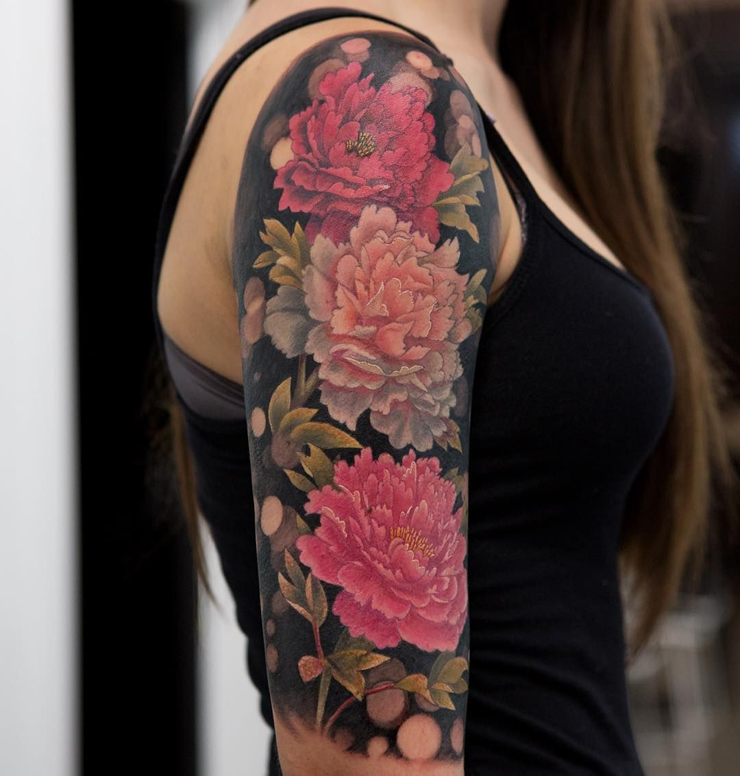 Tattoo: Peony Tattoo By Mikhail Anderson - Gardening Go