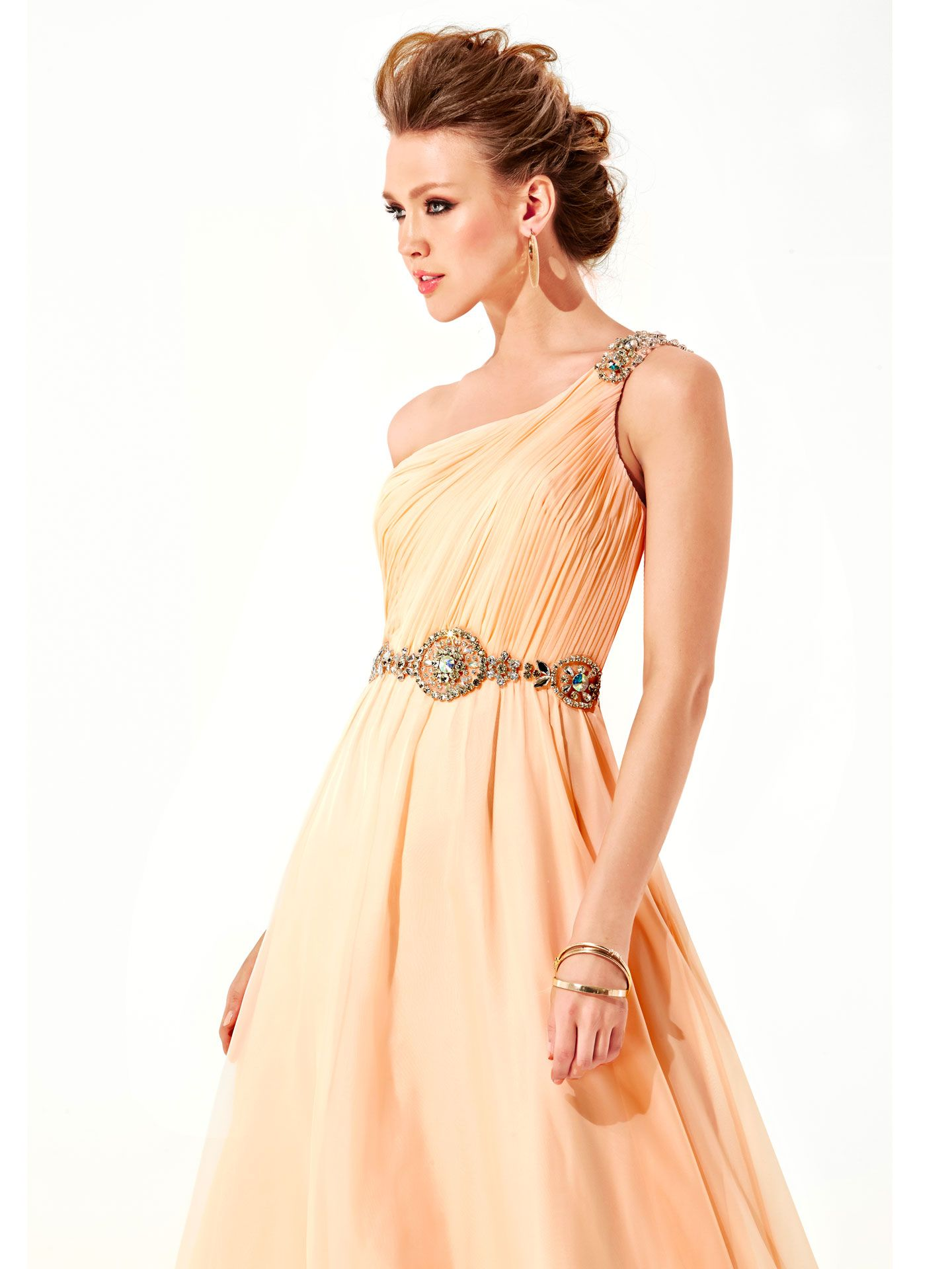 Yellow and Orange Prom Dresses Prom Homecoming and Shoulder