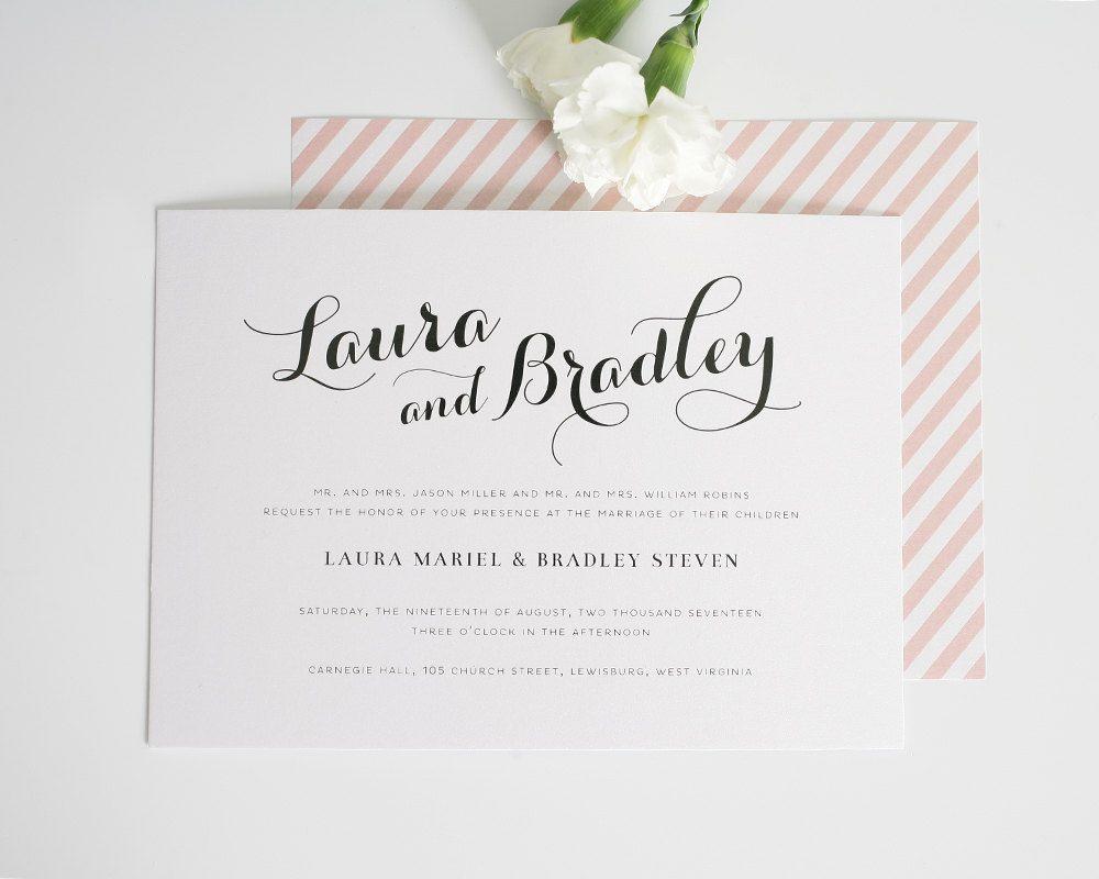 Romantic Wedding Invitation Chic Elegant by ...