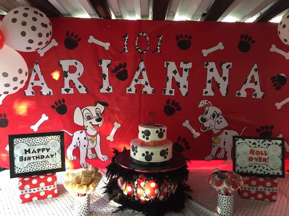 Dalmatian Birthday Party Ideas Photo 4 Of 17 Puppy Birthday Parties 101 Dalmations Party Shopkins Party