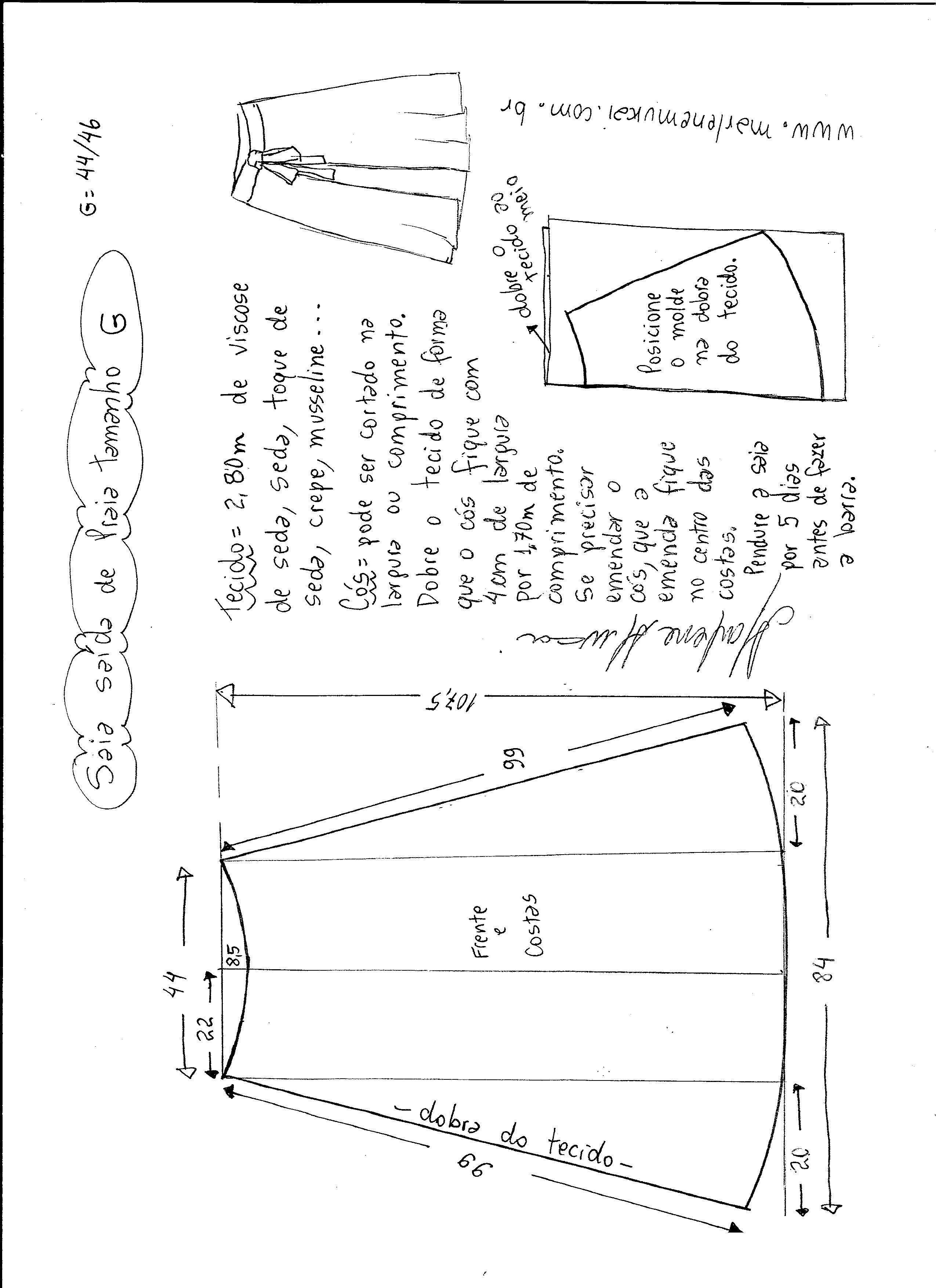 Patrón falda pareo para la playa | Costura | Pinterest | Pattern ...