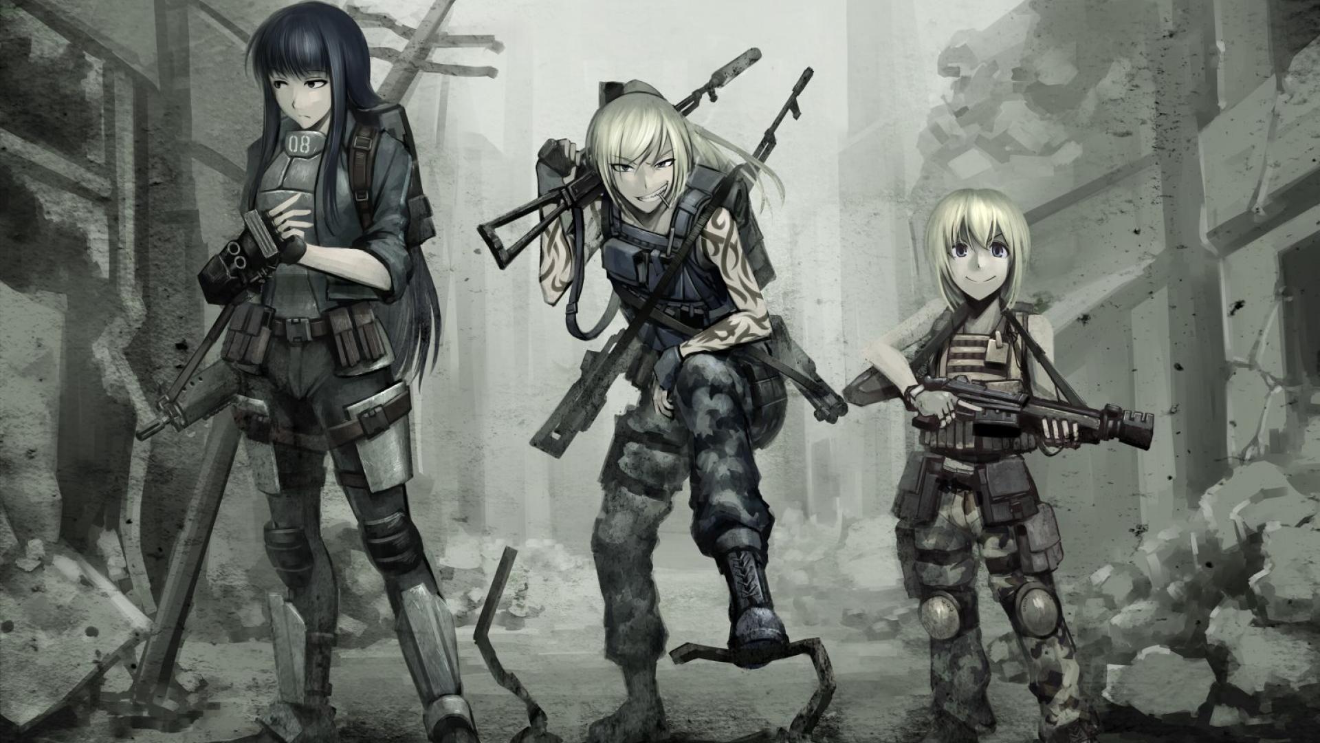 Anime Gunslinger Girl With Guns Wallpaper Gun girl