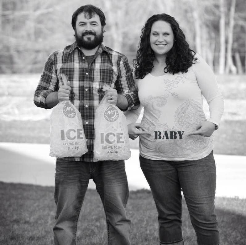 Our pregnancy announcement! #iceicebaby