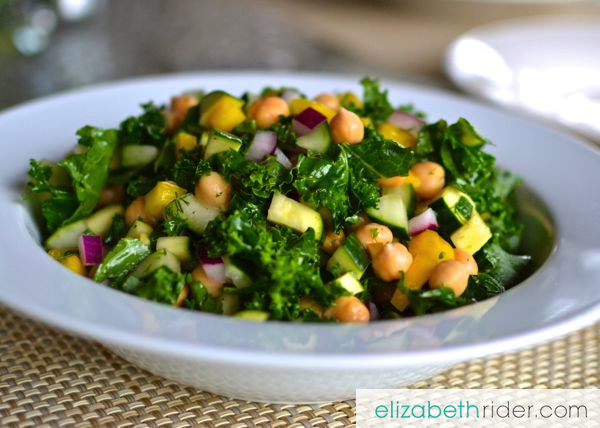 This kale salad recipe is packed with fiber, antioxidants, minerals, healthy fats, good carbs and protein. It's low-glycemic, gluten- and dairy-free, too!