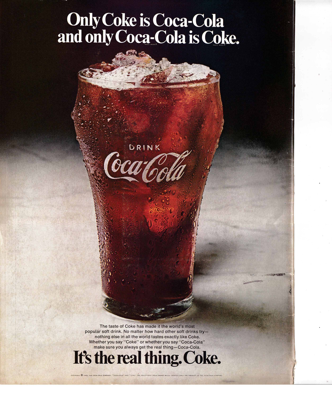1969 Coke -Coca Cola is Coke-Coke Is Coca Cola -Original