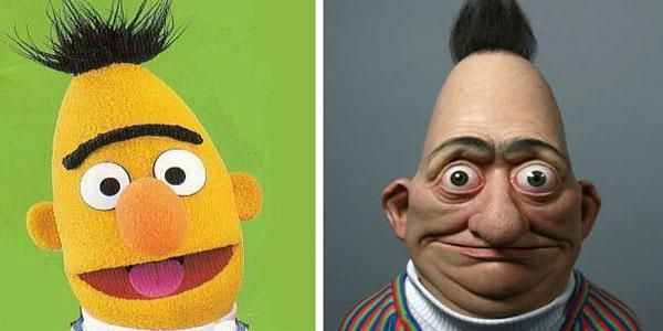Bert From Sesame Street 15 Cartoon Characters In Real Life