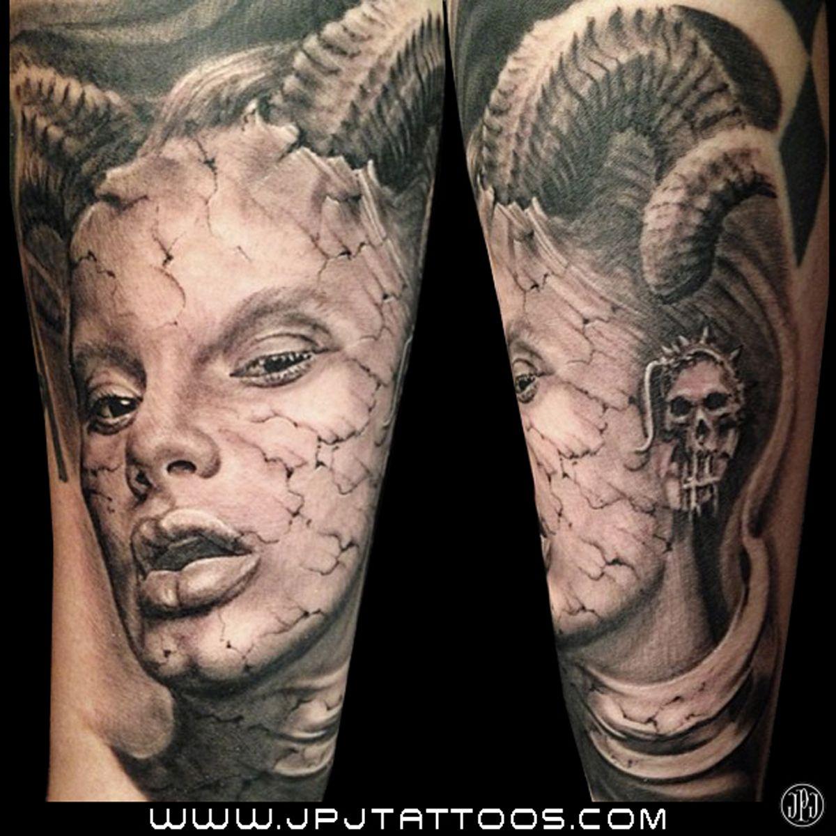 Horror tattoo portrait tattoo