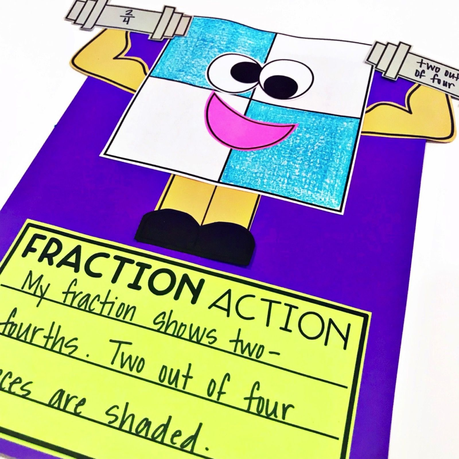 Fraction activities, games, and read alouds for 1st and
