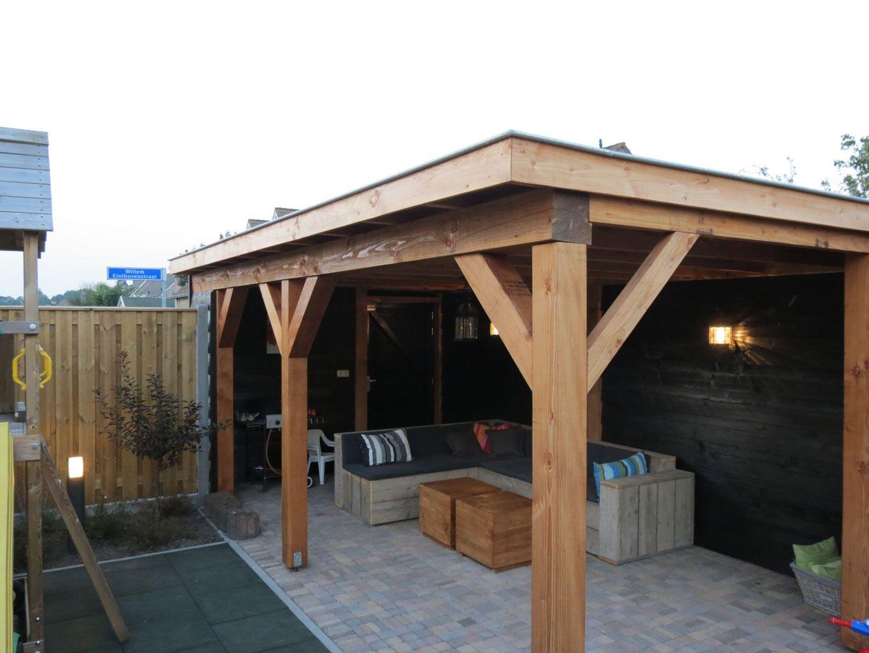Douglas hout veranda overkapping tuinmeubel loungeset for Kosten veranda