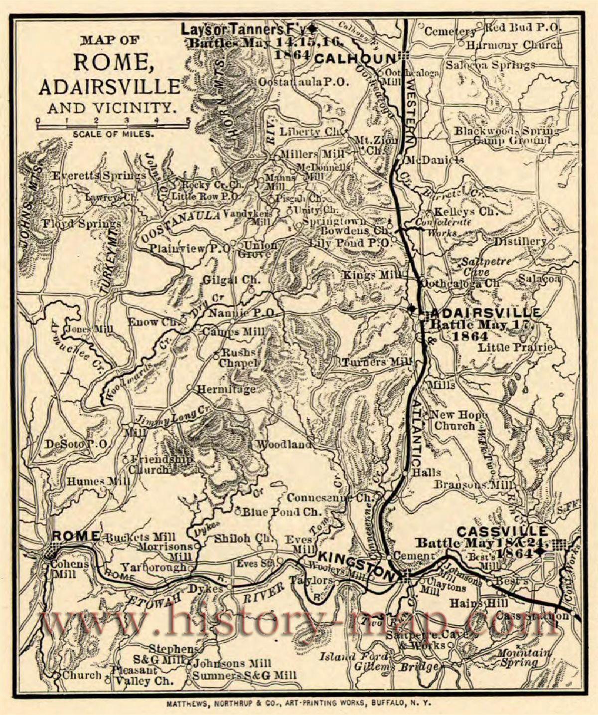 Map Of Rome Adairsville Civil War Ga Civilization Map Globe Map