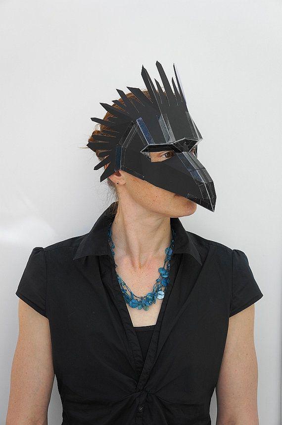 Bird or Raven Mask - Make your own Bird Mask   Masking Raven mask and Bird & Bird or Raven Mask - Make your own Bird Mask   Masking Raven mask ...