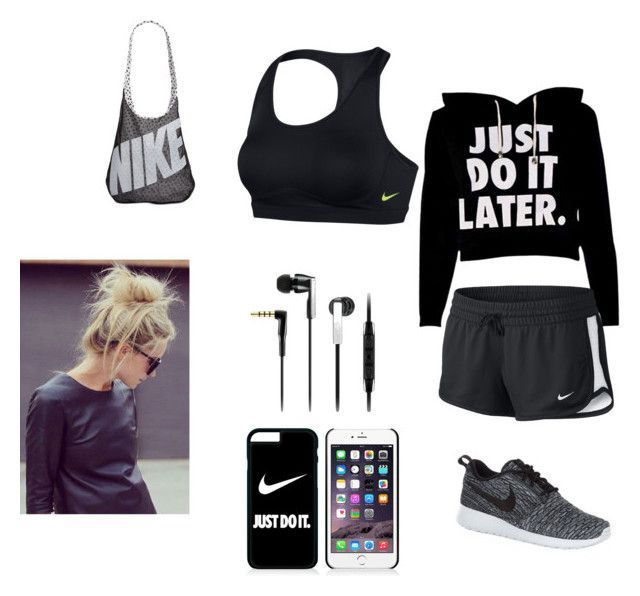 """Gym"" by smileyface3101 on Polyvore featuring NIKE and Sennheiser"