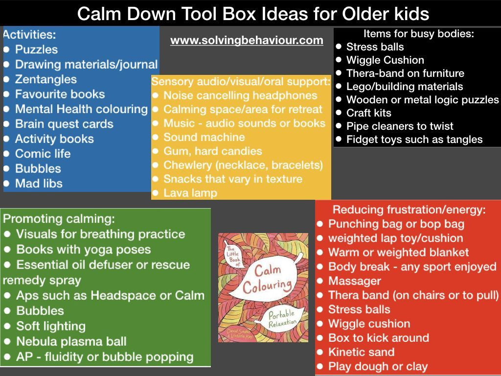 These Ideas Can Help Students To Cool Down In Case They