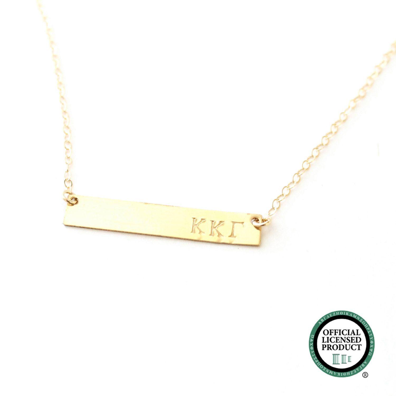 Kappa Kappa Gamma Sorority Bar Necklace Official