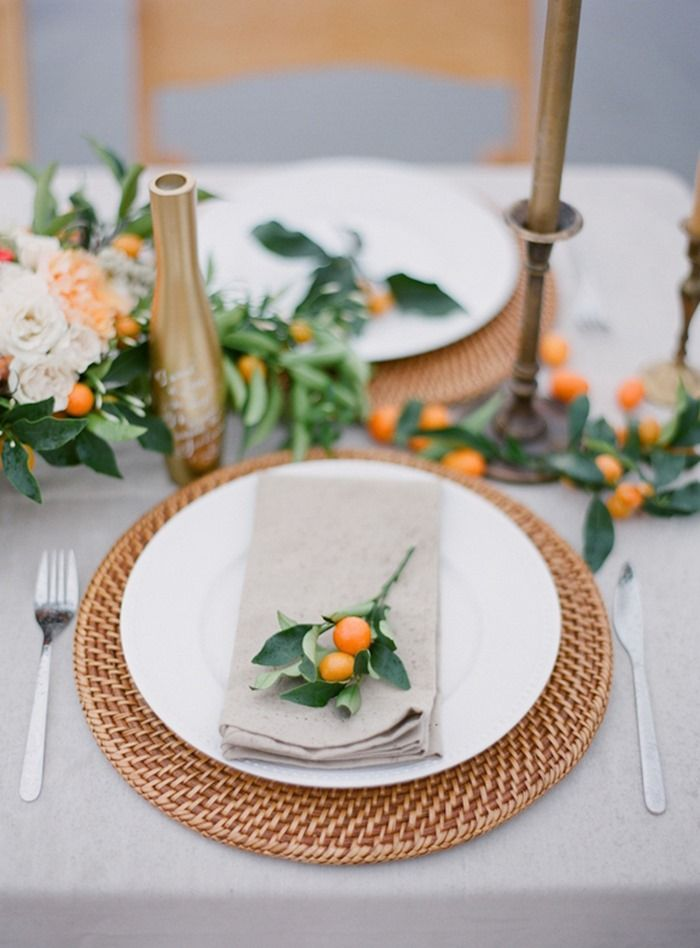 Kumquat place setting | Floral design by Clare Day Flowers & Kumquat place setting | Floral design by Clare Day Flowers | Set the ...