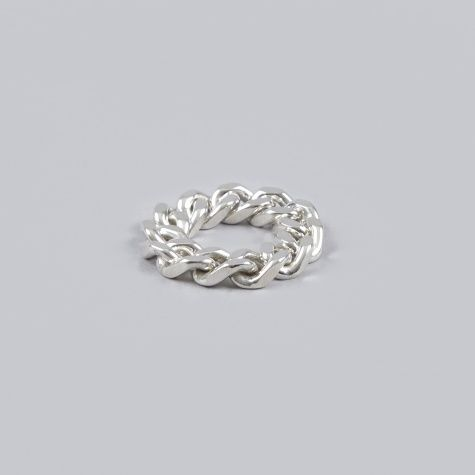 Oljei Thick Chain Ring - Silver