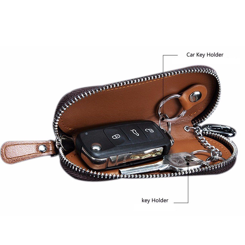 Premium Top Quality Vintage Genuine Leather Key Organizer Wallet Keychain Unisex