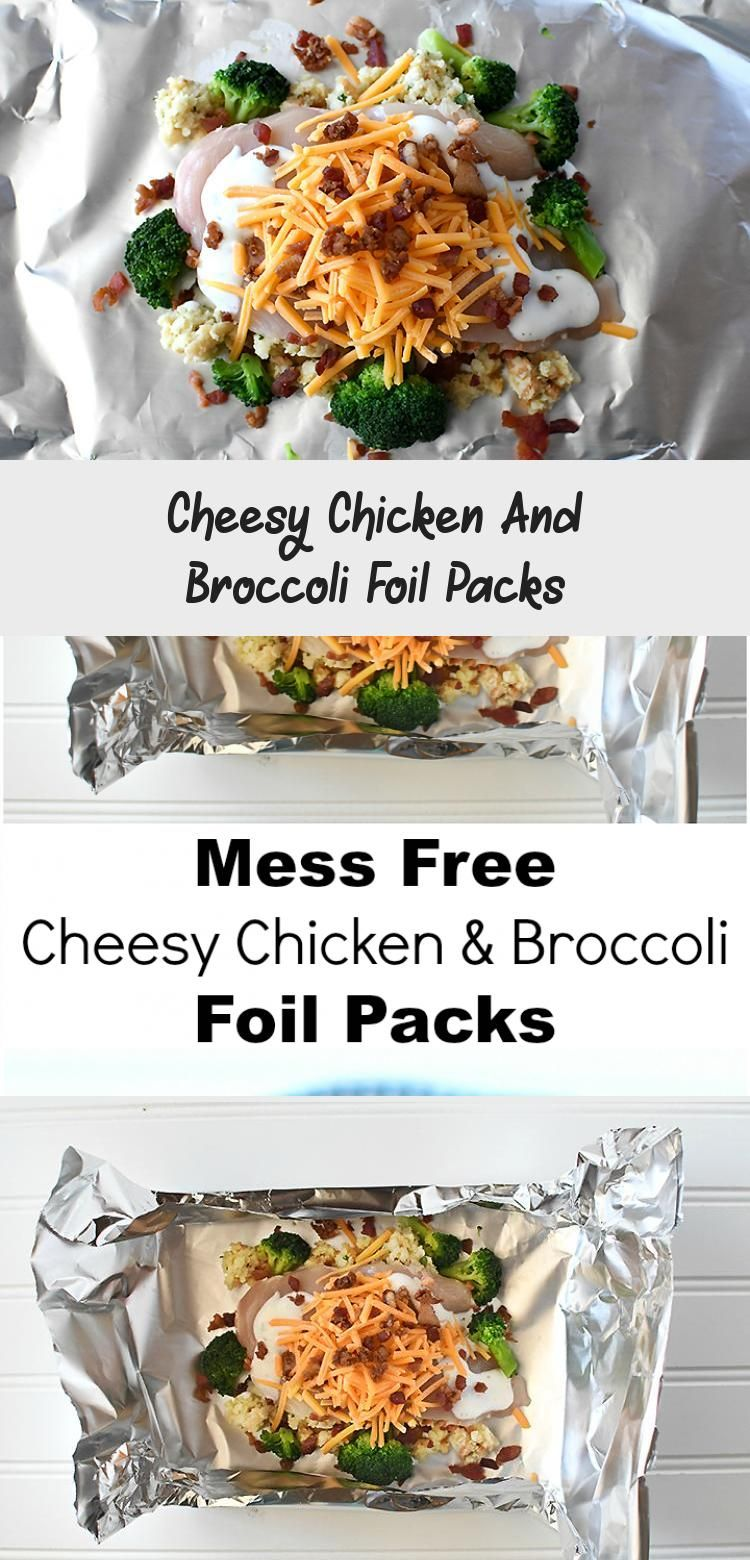 Photo of Cheesy Chicken And Broccoli Foil Packs – Recipes