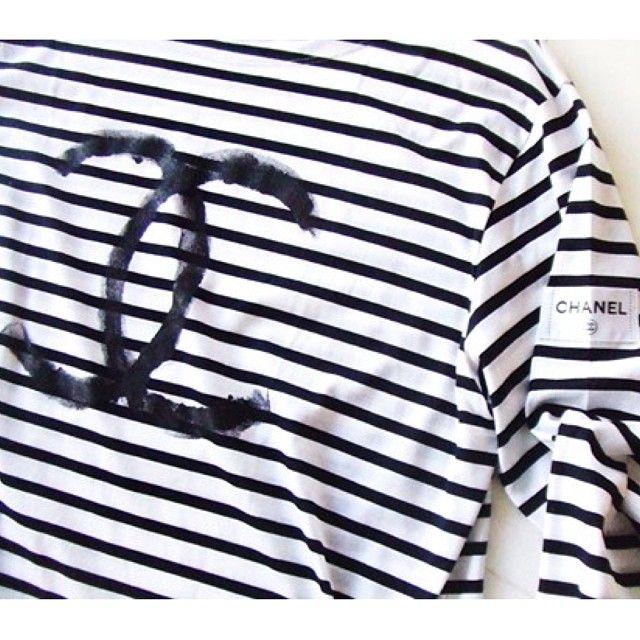 7364b1388b9 Chanel striped tee…. Omg I can t breath  Chanel  stripes by ...