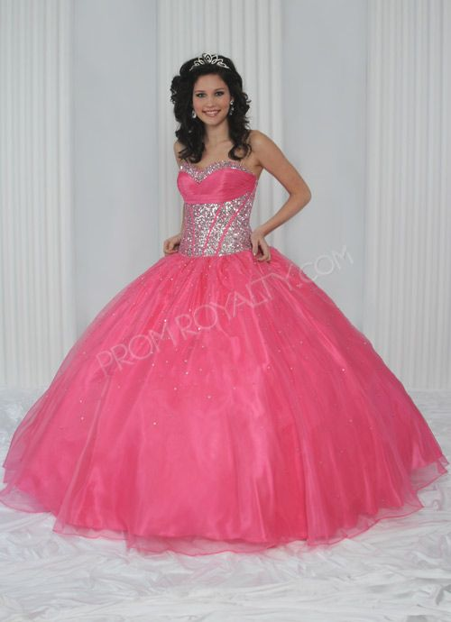 Long Salmon Pink Prom Dress With Sparkly Belt Dresses Pinterest
