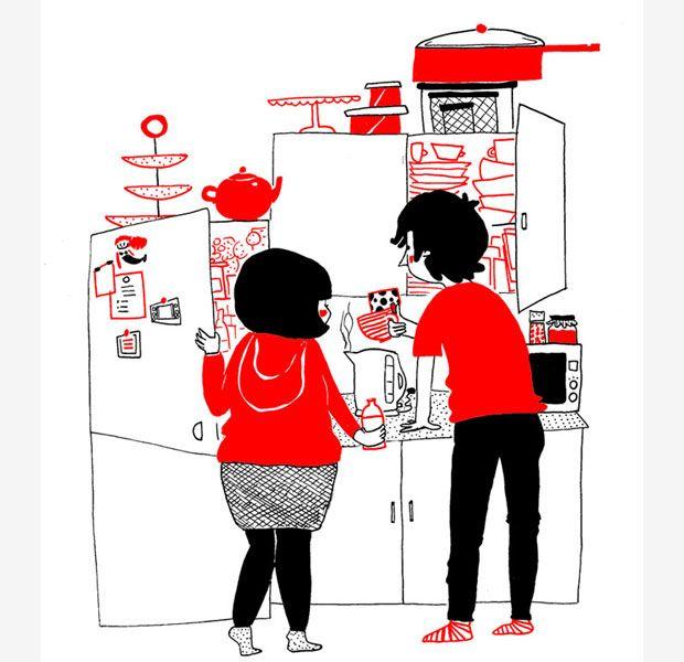 愛很簡單 24張漫畫道盡愛情美好