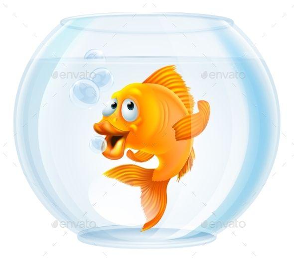 Cartoon Goldfish In Bowl Cartoon Goldfish Goldfish Art Goldfish