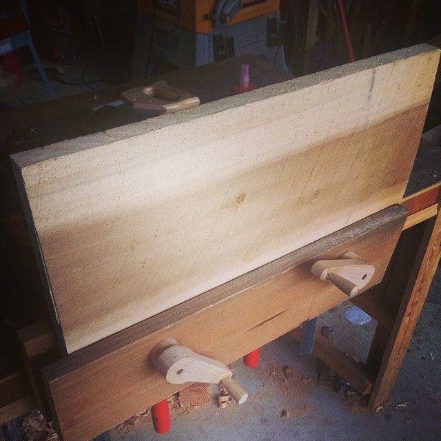 theurbanwoodworker's photo on Instagram---- Moxon vise made from spruce and a black and decker workmate knockoff for the hardware. The vice handles are maple.
