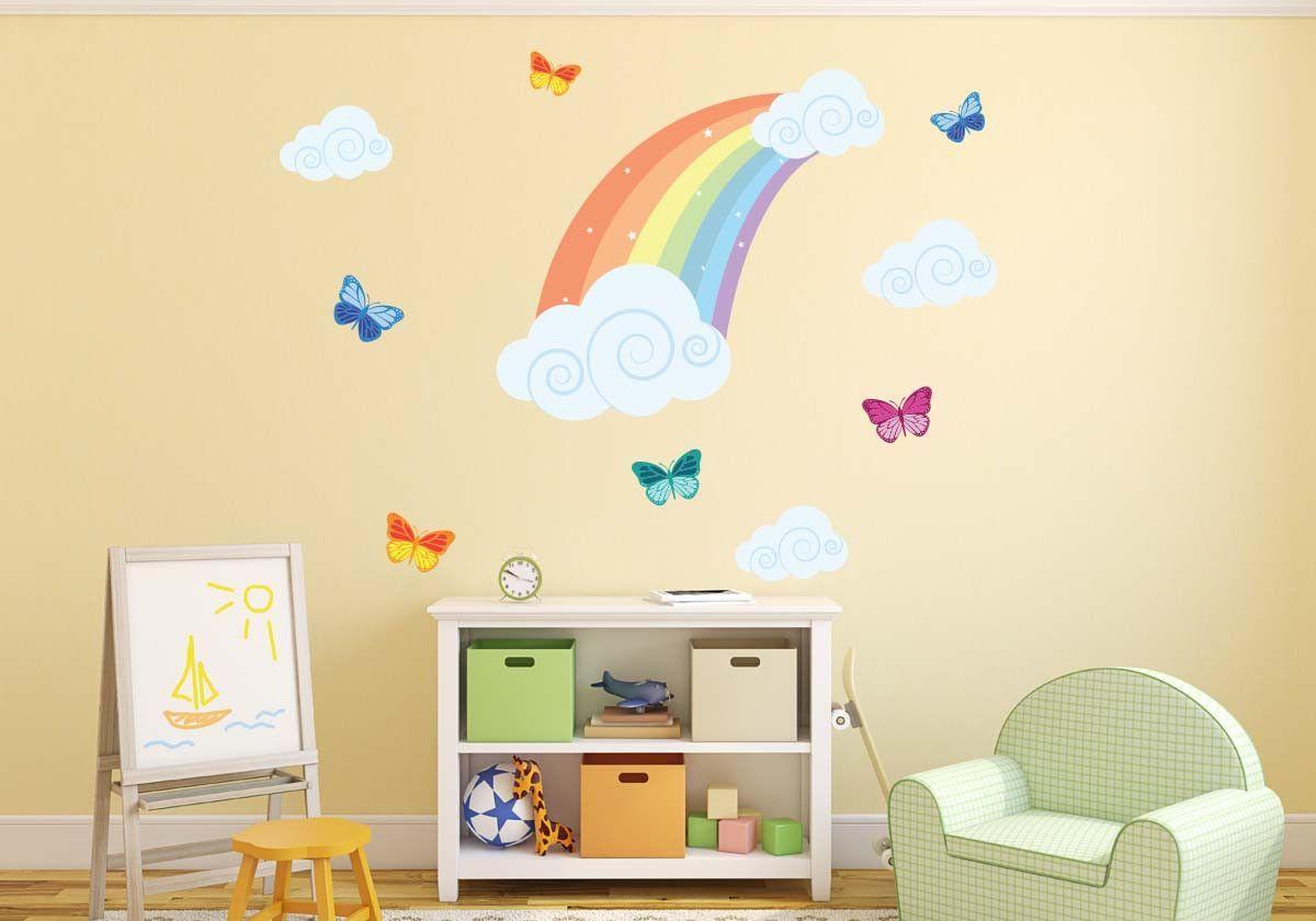 Rainbow Butterflies Wall Decal | For the girls | Pinterest ...