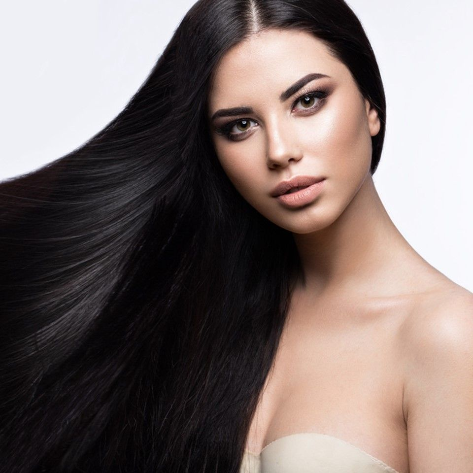 Pure Noirette 1 Jet Black Clip In Hair Extensions Hair Poster Black Hair Salons Hair Extensions