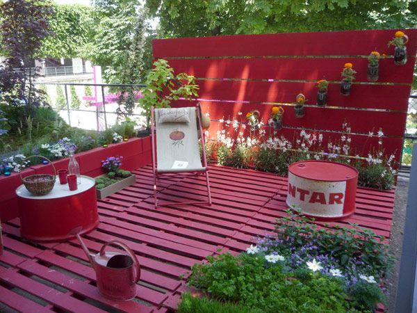 Terrasse entièrement recyclée | Salon jardin, Éco et Terrasses