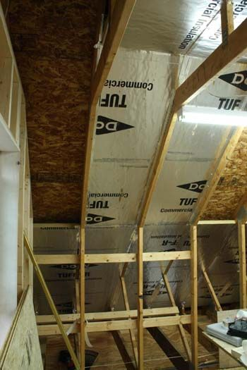 Insulating Cathedral Ceiling With Foam Board Attic