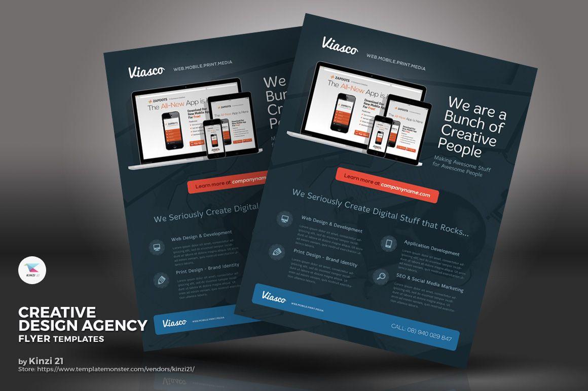 creative design agency flyer corporate identity template website