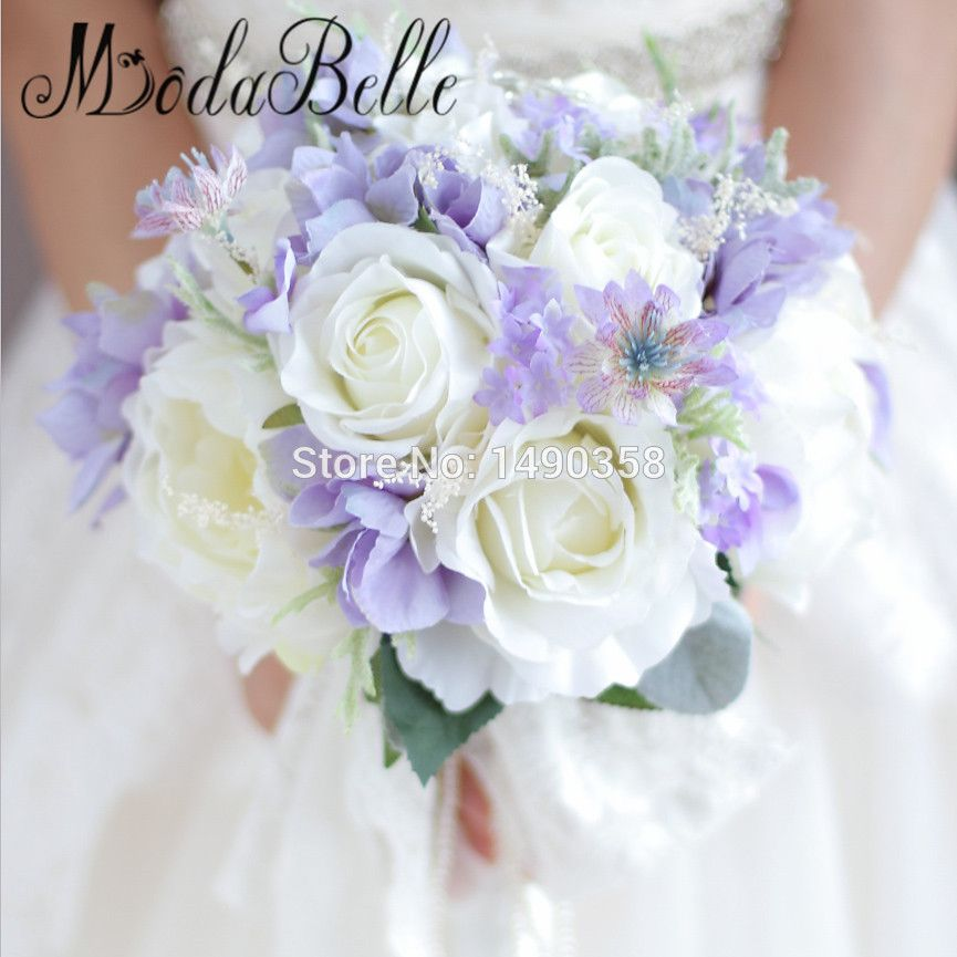 Romantic Wedding Bouquet For Brides Artificial Flower Bridal Bouquet ...