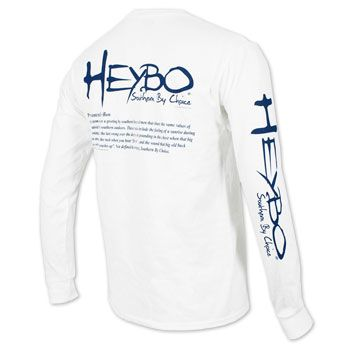 4893e1be HeyBo Definition Long Sleeve T-Shirt - White #heybo | Hey Bo | T ...