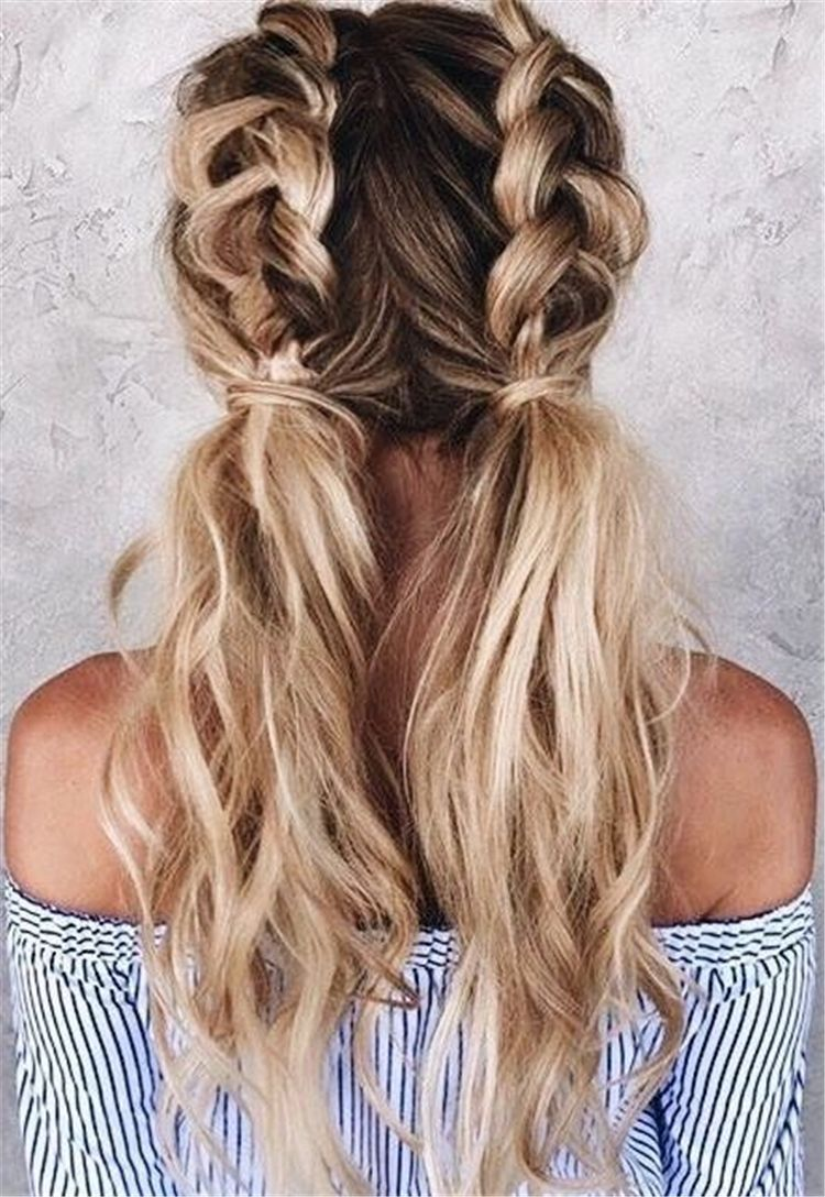 Easy And Cute Back To School Hairstyles You Must Try Cute Hairstyles Medium Length Hairstyles Hairstyle In 2020 Hair Styles Long Hair Styles Blonde Hair Inspiration