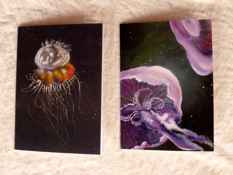Grußkarten Quallen von Berlin_art auf DaWanda.com
