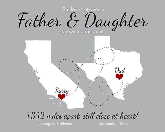 Gift for Father from Daughter Son Personalized by LittlePaperMap