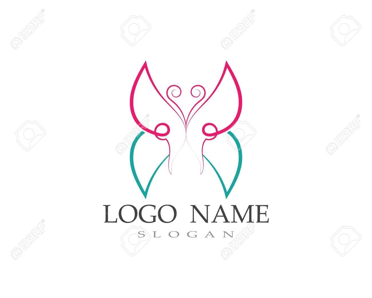 Butterfly Logo And Symbol Vector Design Sponsored Logo Butterfly Symbol Design Vector Butterfly Logo Vector Design Template Free