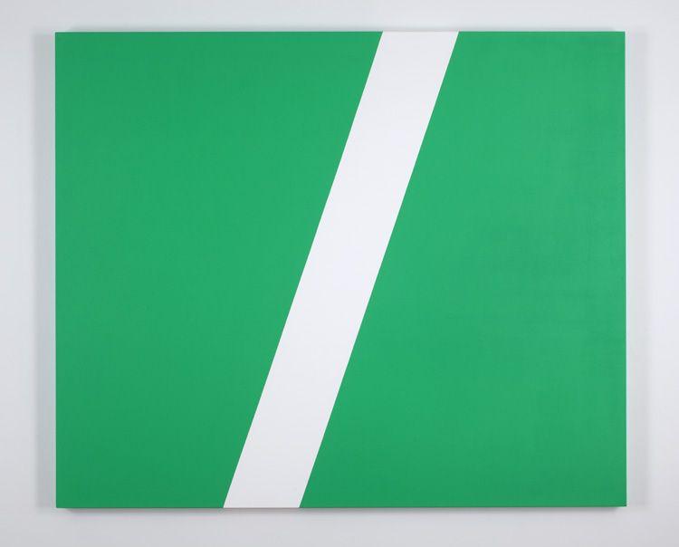 Carmen Herrera Greenfield, 2011 Acrylic on canvas 152.4 x 182.9 cm